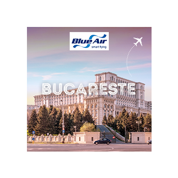 Vá a Bucareste com a Blue Air