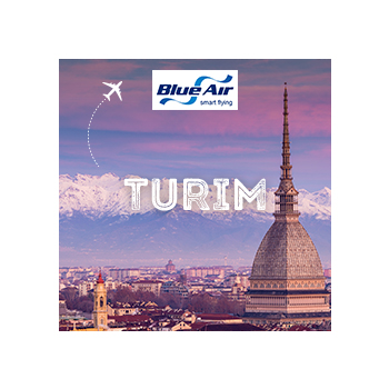Vá a Turim com a Blue Air