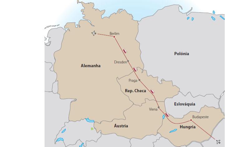 Capitais da Europa Central Plus - Berlim a Viena