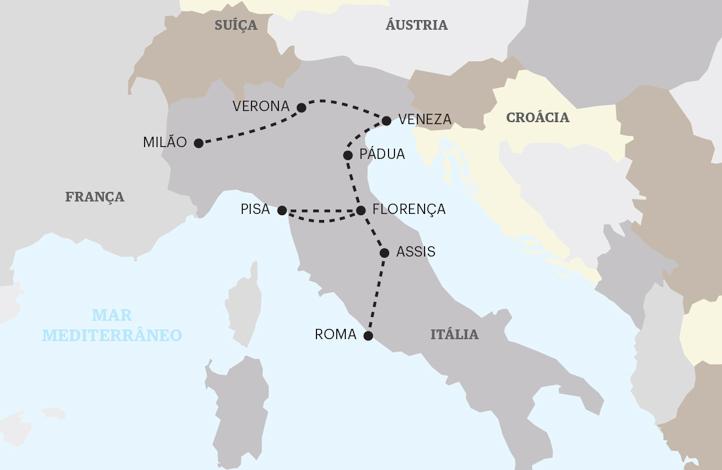 O melhor de Itália - Milão a Roma